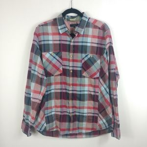 Ted Baker Plaid Button Down Casual Shirt